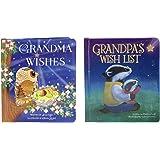 2-Pack Padded Board Books: Grandma's Wishes & Grandpa's Wish List, Ages 1-5