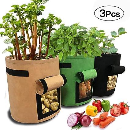 Amazon.com: AYUQI - Bolso de cultivo de patatas (3 unidades ...