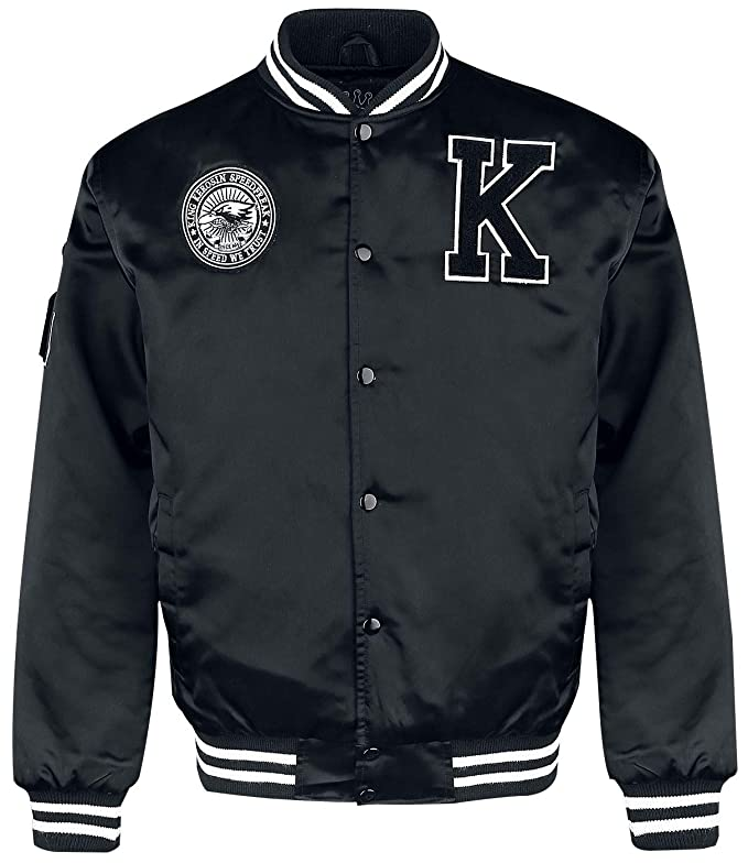 King Kerosin Speedfreak Cazadora Tipo Universitario Negro XL ...