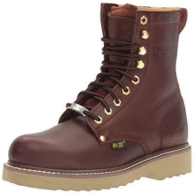 "Adtec Men's 1312 8"" Steel Toe Farm Boots Redwood Work | Industrial & Construction Boots"