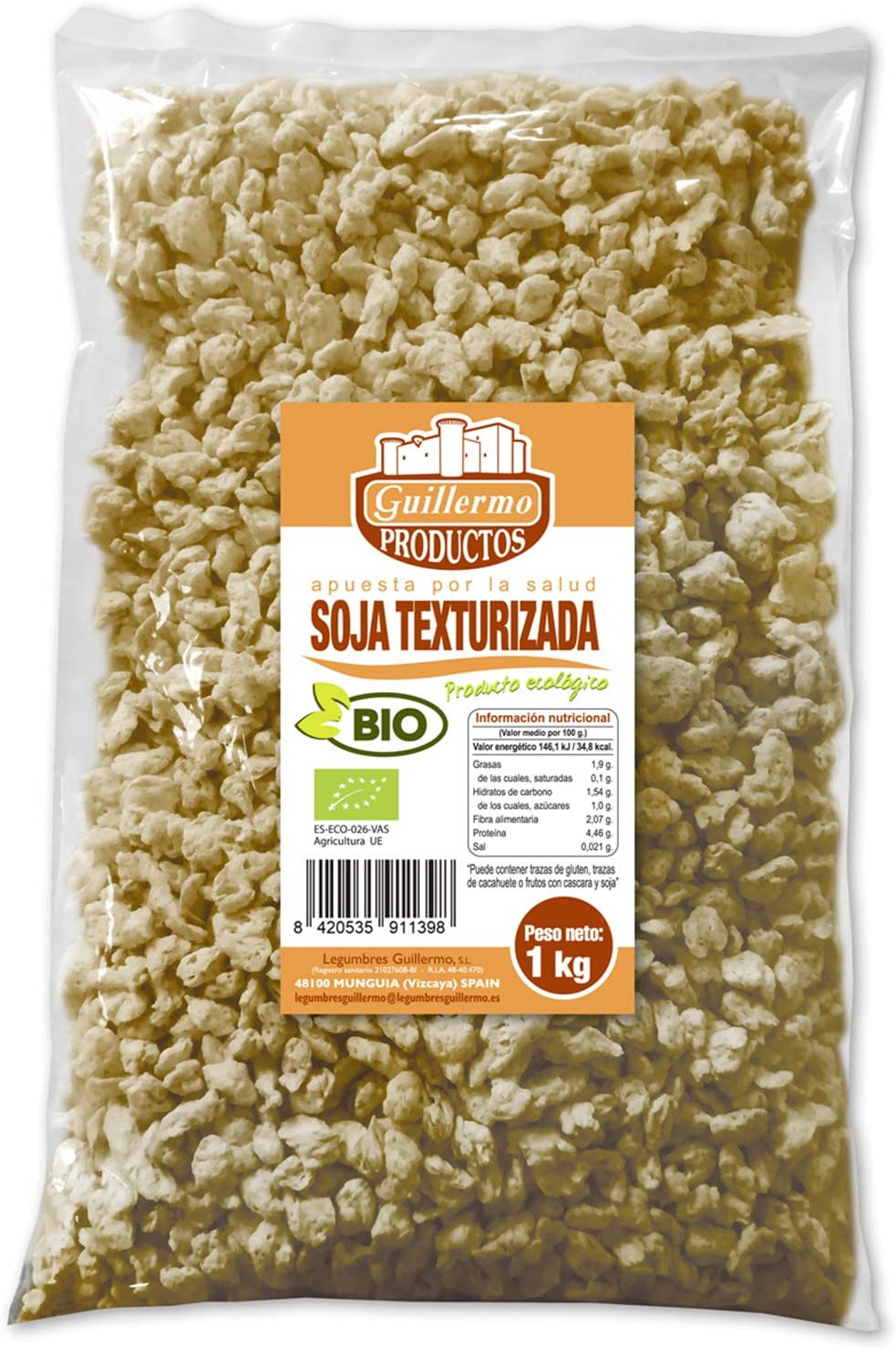 Guillermo Soja Texturizada Ecológica BIO Superalimento 100 ...