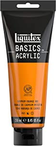 Liquitex 4385720 BASICS Acrylic Paint, 8.45-oz tube, Cadmium Orange Hue