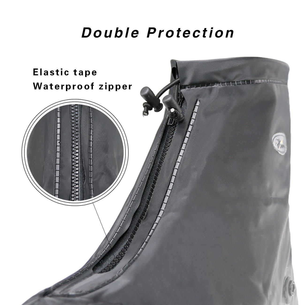 Life-C Black Waterproof Snow Rain Shoes Covers Women Men XXXXL by Life-C (Image #5)