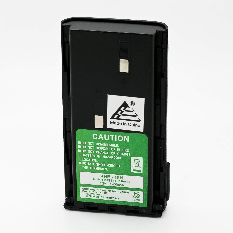 Li-Ion TK-260 TK-360 Radio Battery Replaces Kenwood KNB15 KNB-15 KNB-15A Battery