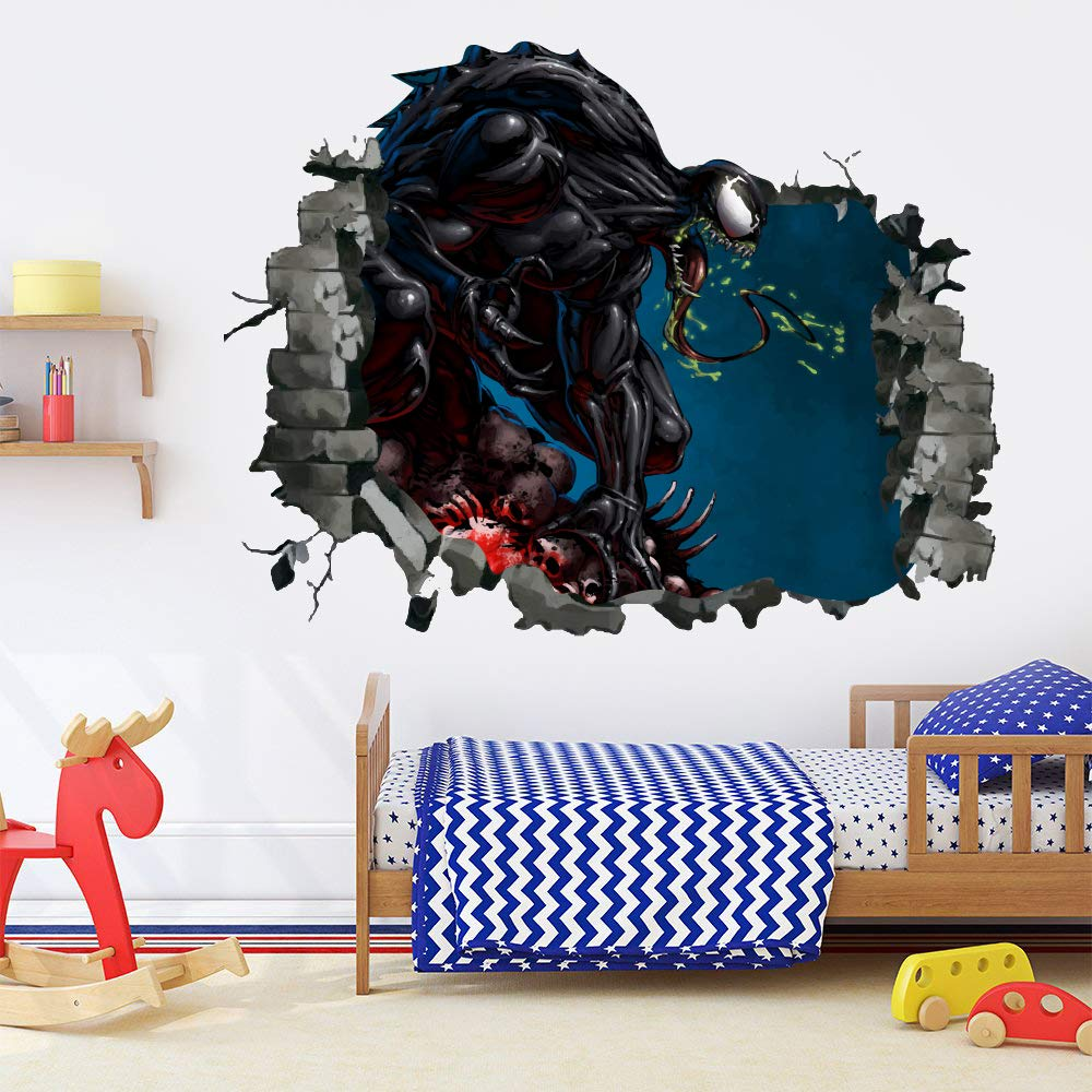 Amazon com venom wall sticker smashed wall decal hole in wall