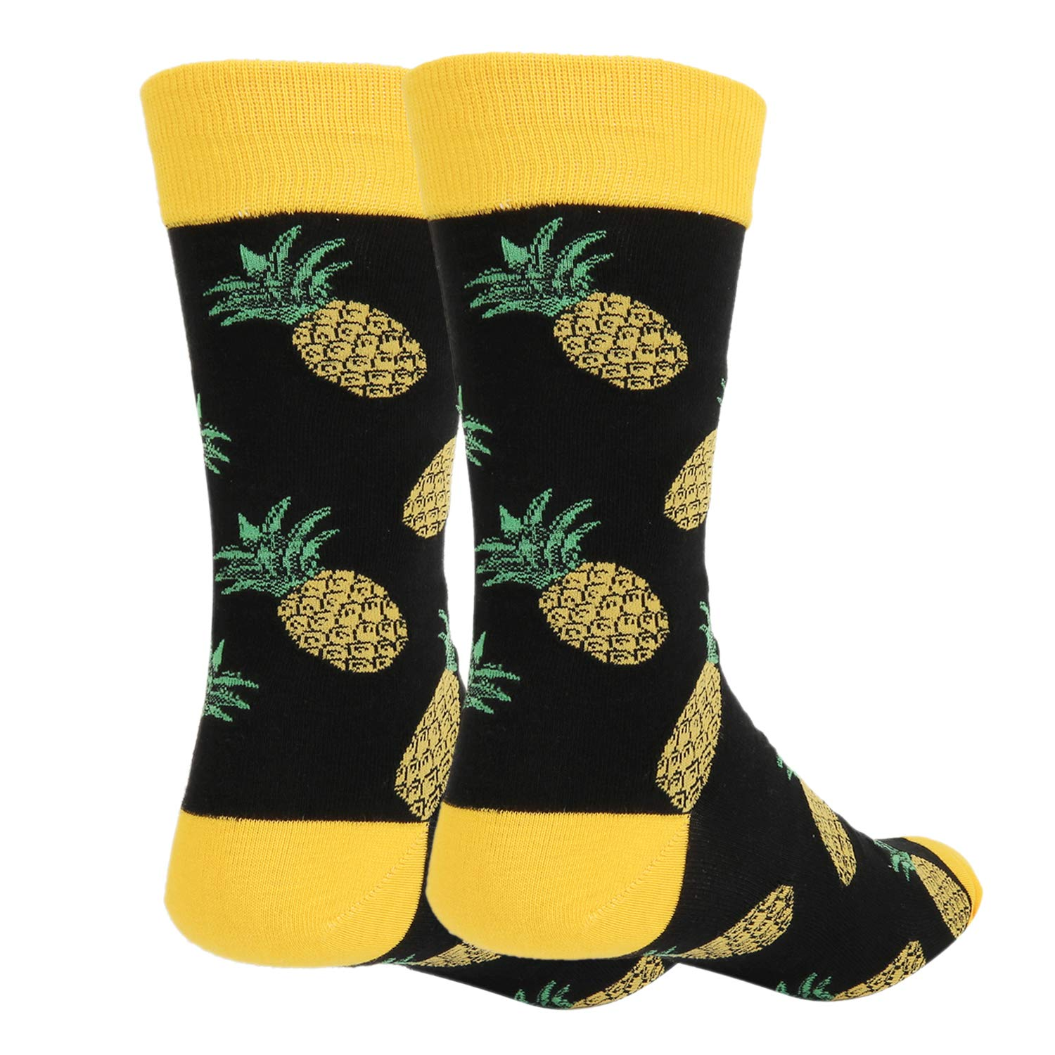 7a8faabdf96 Amazon.com  Zmart Men s Novelty Crazy Funny Pineapple Crew Socks Cool Funky  Fruit Dress Socks  Clothing