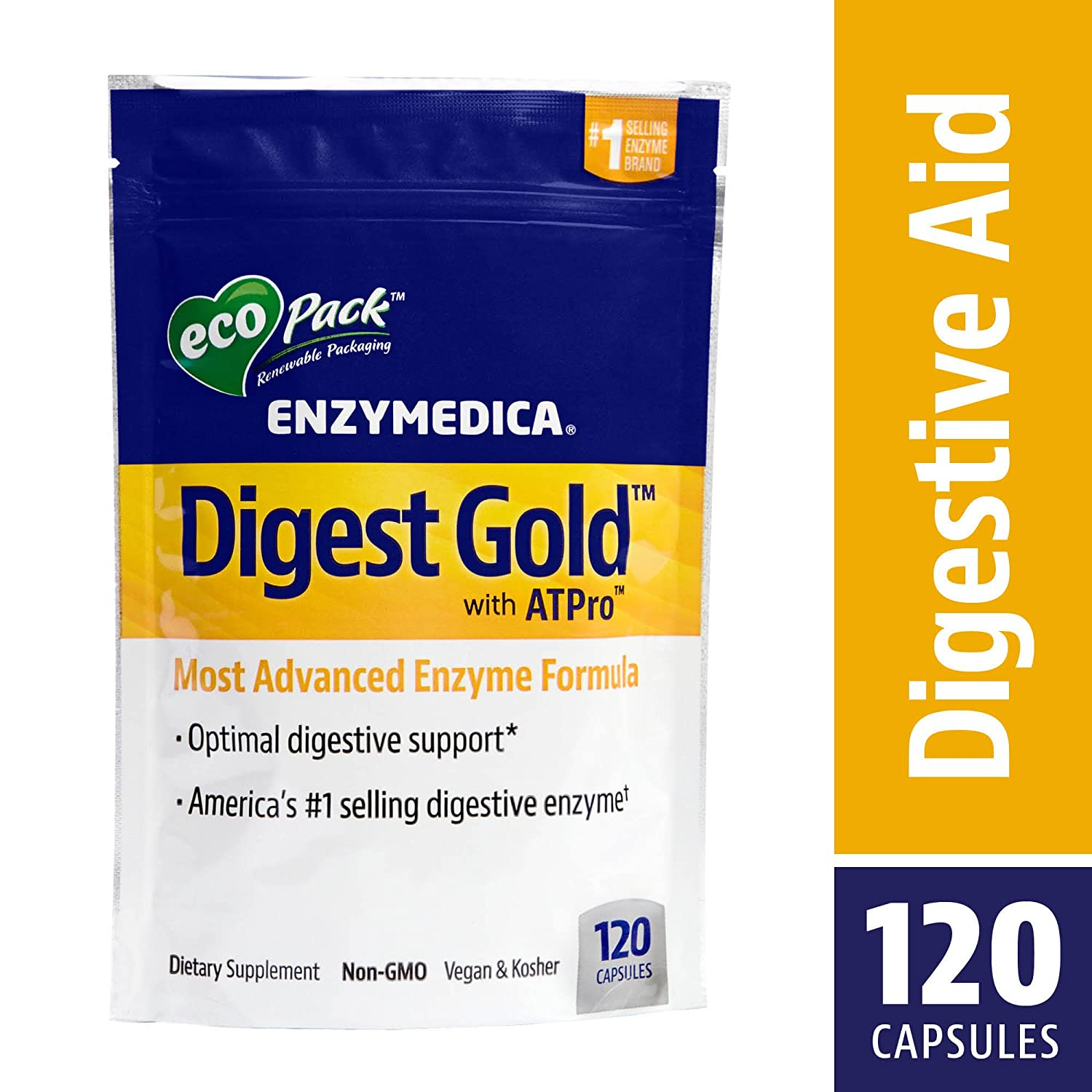 Amazon.com: Enzymedica - Digest Gold with ATPro, High Potency ...