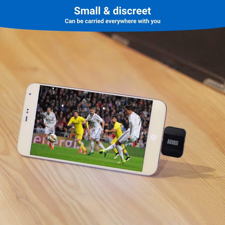 August Sintonizador de TV para teléfonos Android DVB-T305 - Ver Live Freeview HD Televisión en Android 4.1+ Smartphones - Micro USB para ...