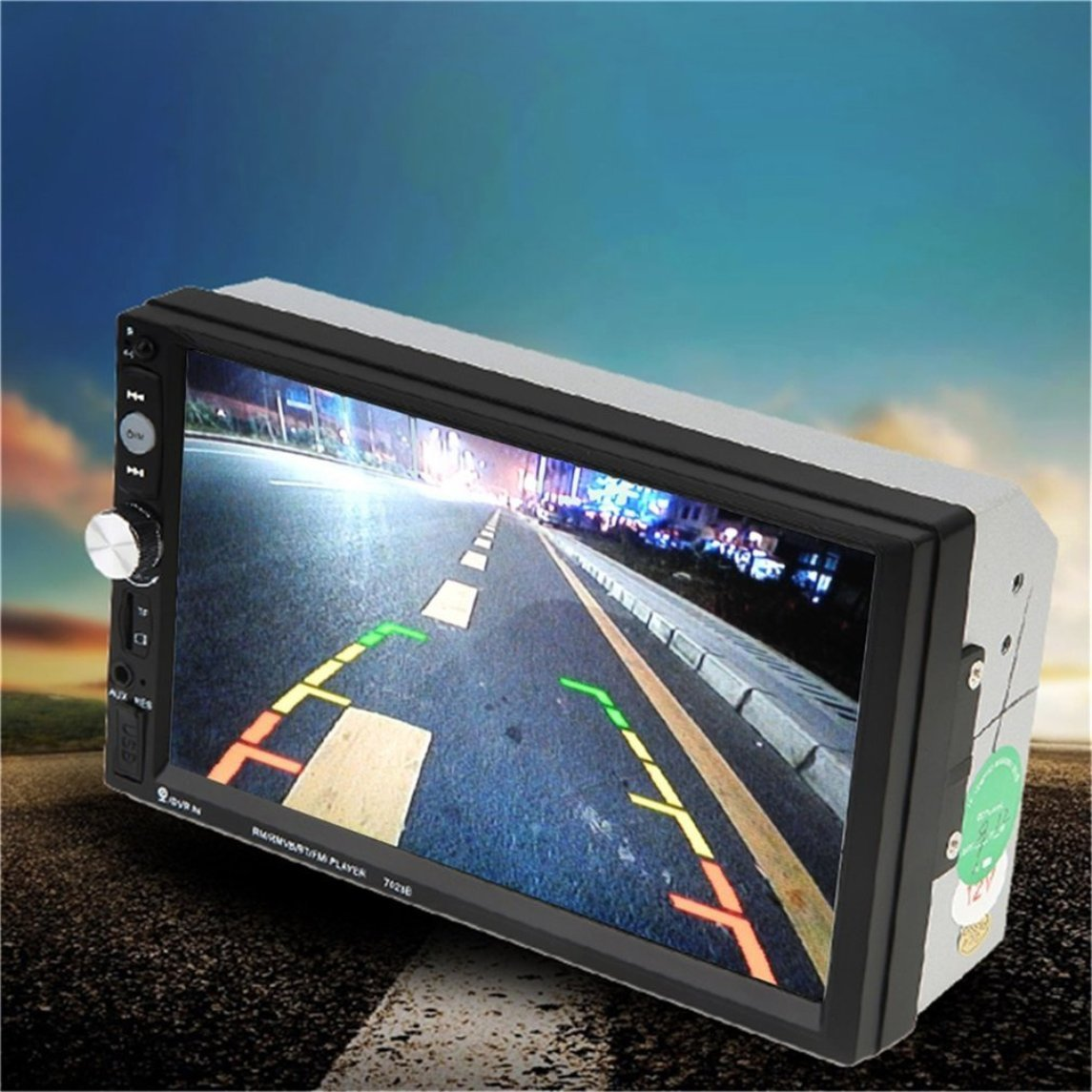 Footprintse 7023B Auto Car Doble DIN Reproductor de DVD del Coche 7 Pulgadas de Pantalla táctil TFT Multimedia Radio Reproductor de Bluetooth MP5 con ...