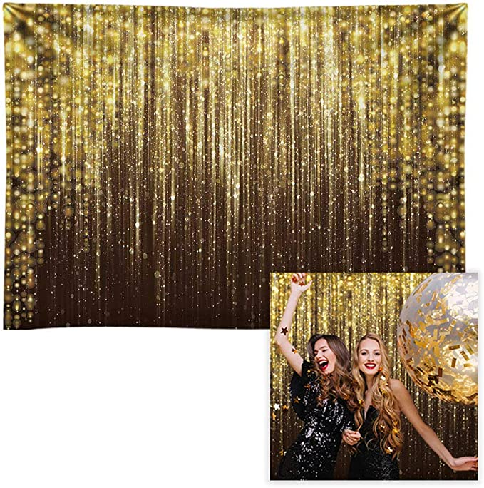 Funnytree 8x6ft Durable Fabric Class of 2020 Graduation Party Backdrop No Wrinkles Boys Girls Congrats Graduates Photography Background Golden Congratulate Grad Banner Dessert Selfie Photo Props