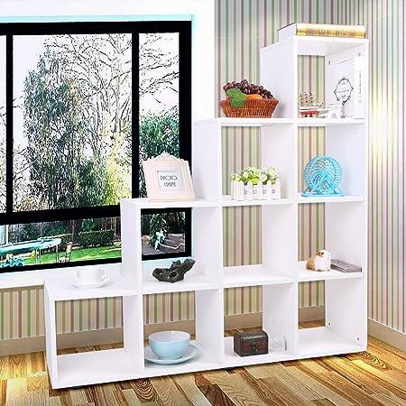 Estantería de cubo de madera, escalera con 4 estantes.: Amazon.es: Hogar