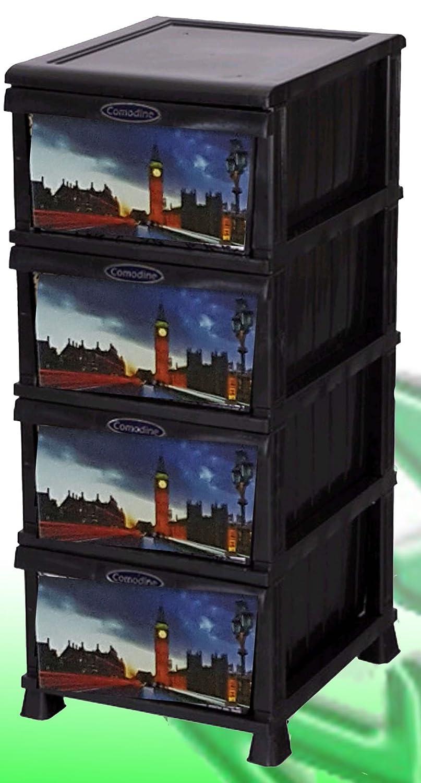 Minimax Cajonera de plástico Decorada Londres 4 cajones ...