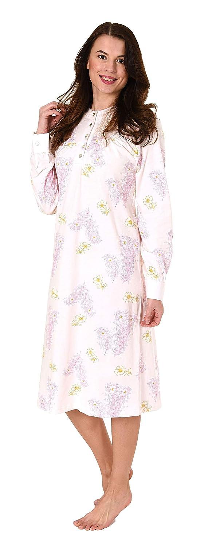 Elegantes Damen Nachthemd mit 105 cm Länge und Kopfleiste am Hals - 281 210 90 192