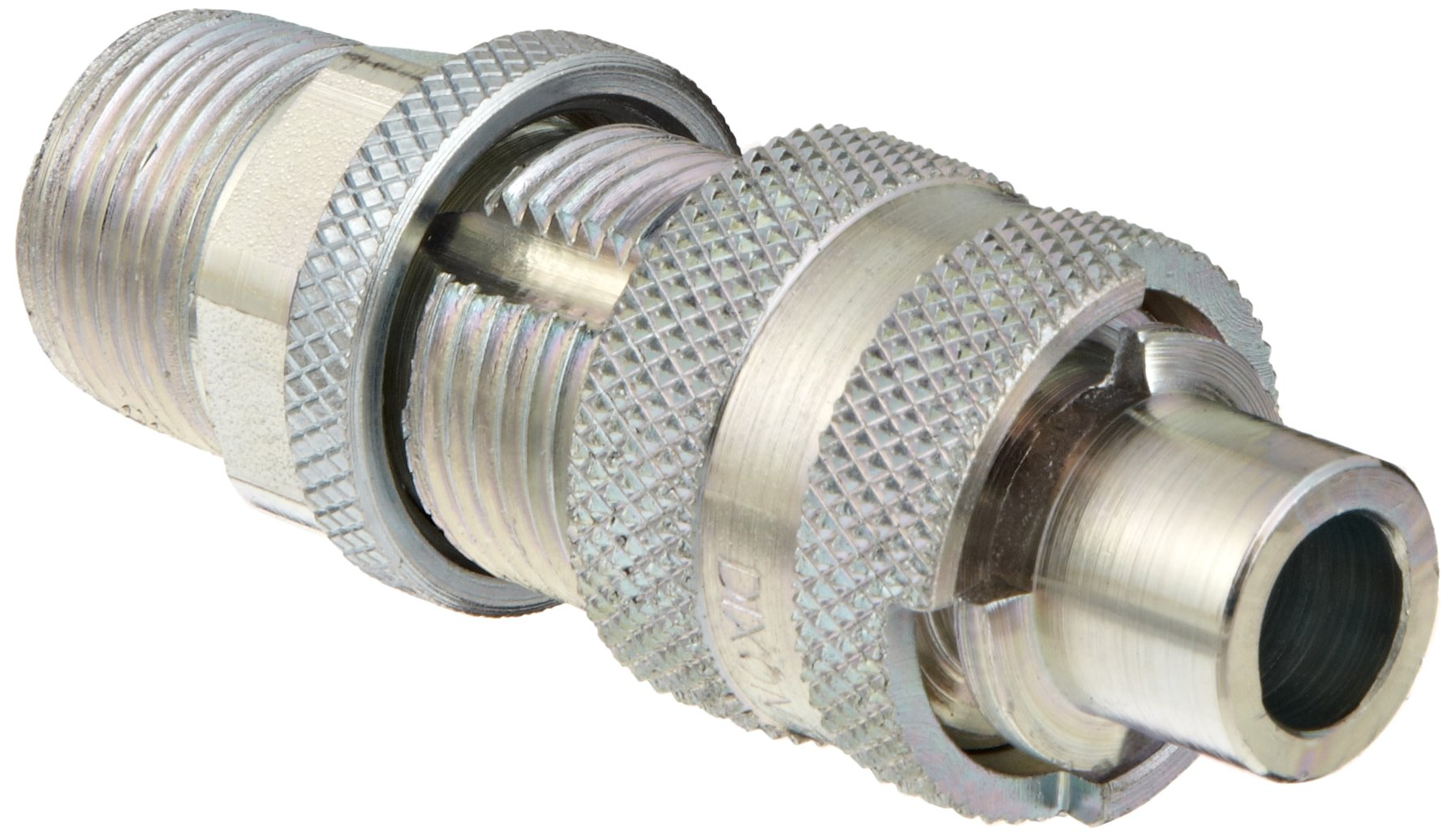Dixon QM88 Plated Steel Dix-Lock Quick Acting Air Hose Fitting, 1/2'' Male Locking Head x 3/4'' NPT Male