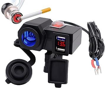 Samoleus Cargador USB para Motocicleta, 12 V, Encendedor de ...