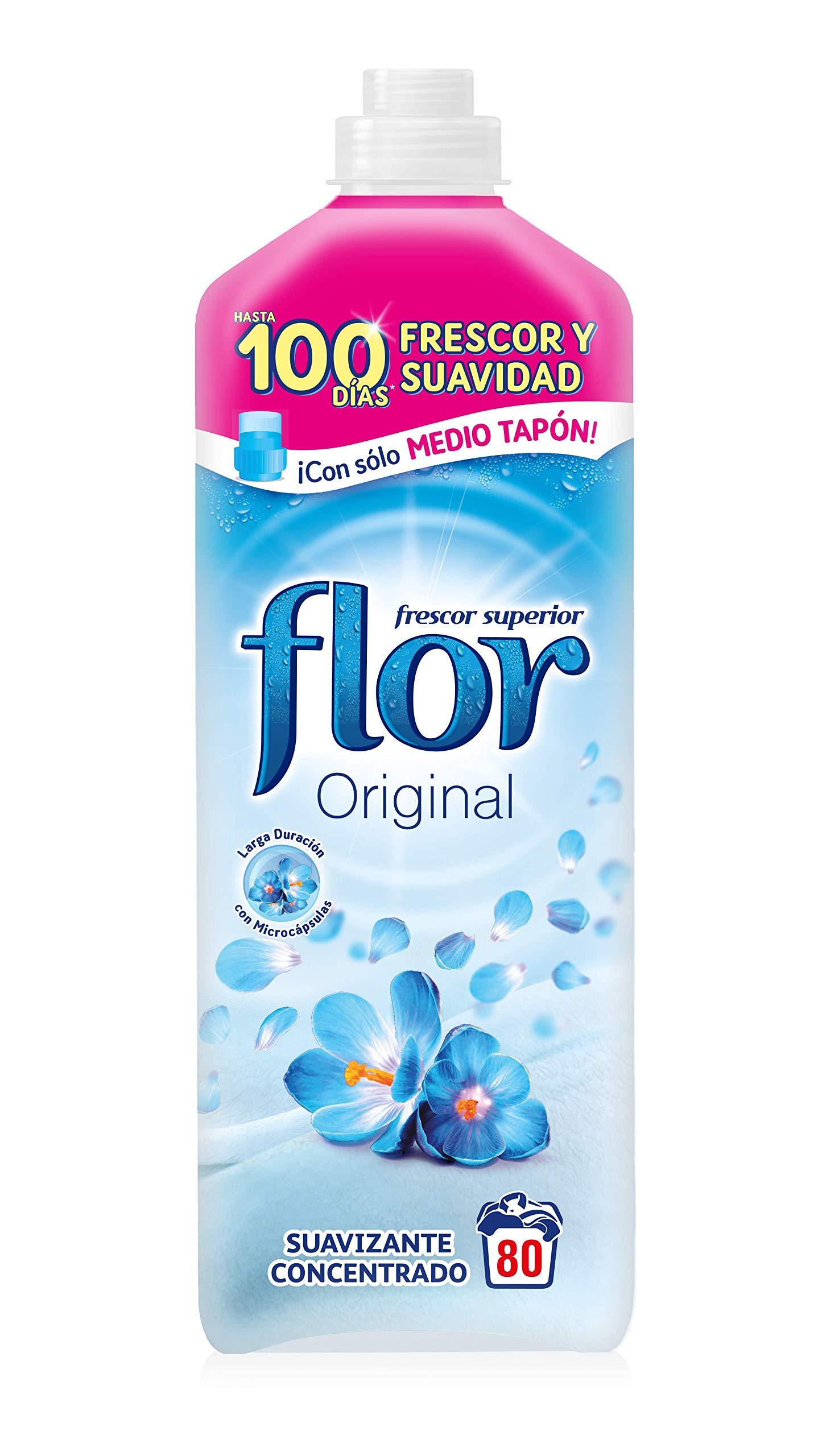 Flor Original - Suavizante Concentrado, para la Ropa, 80 lavados