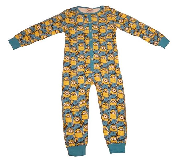 099387c6e0 MINIONS - Pijama de una pieza - para niño azul azul  Amazon.es  Ropa y  accesorios