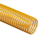Flex-Tube PU Polyurethane Duct Hose, Clear, For Use With Dust, Chips, Shavings