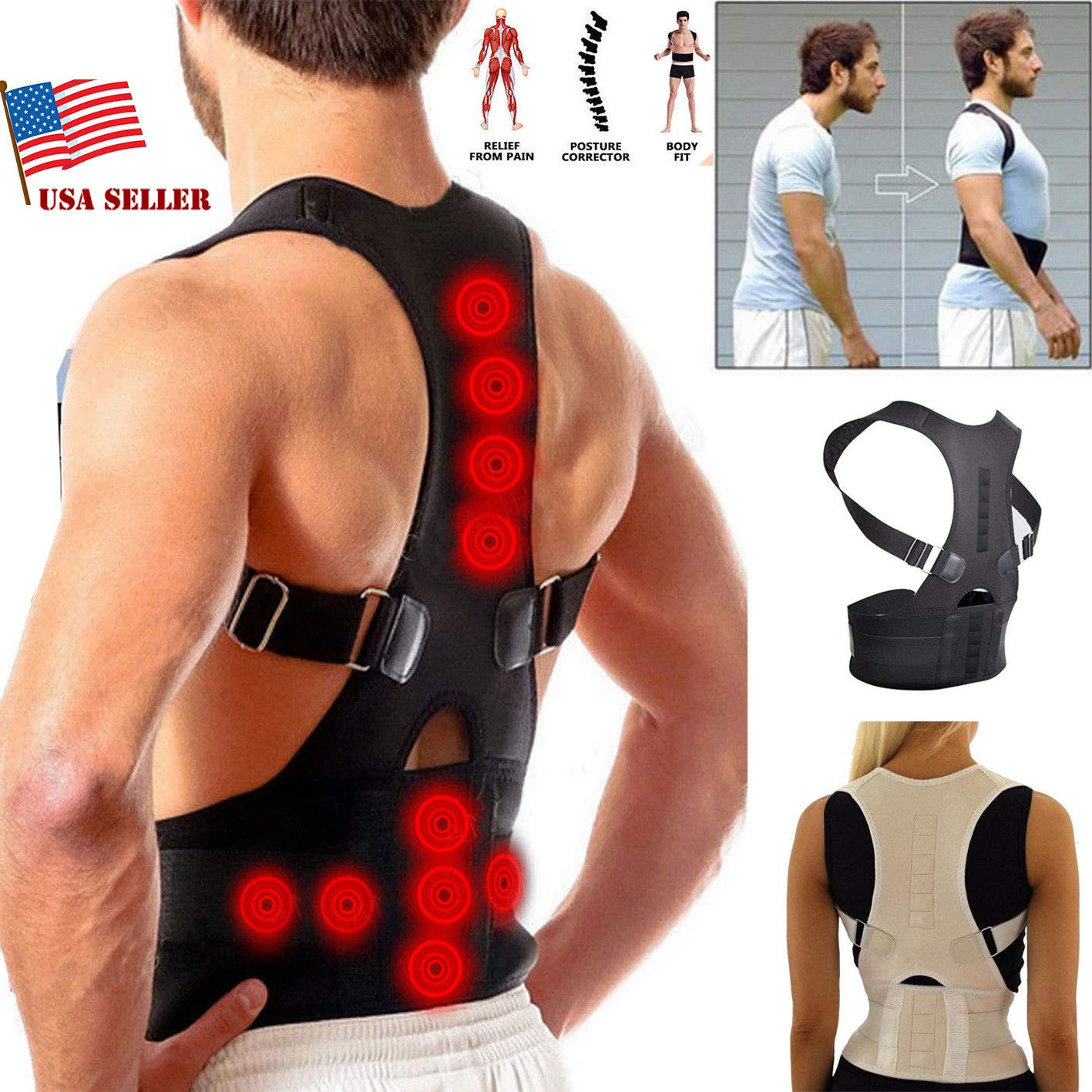 #1 Fajas Ortopedicas para Hombres Faja Correctora Posture La Espalda Talla (M)