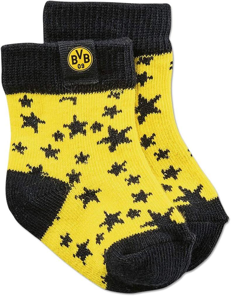 Borussia Dortmund Lot de 5 Paires de Chaussettes pour Enfant 13//15-22//24