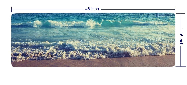Amazon.com: Ihome888 Ocean Beach Waves Bath Mats and Rugs, Flannel ...