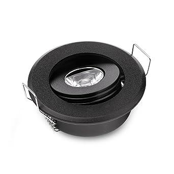 Lot de 10 mini Mini 3 W LED lampe spot LED encastrable plafonnier LED Noir  pour 80b9e049da10