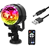 Eyourlife USB Disco Ball Strobe Light Party Lights Disco Lights Karaoke Machine 3W Dj Light LED Portable 7 Colors Sound Activated Stage Lights for Wedding Party Bar Club Outdoor Indoor Show