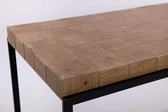 Mesa de Comedor Crudo Mdf y Espejo Provenzal 106 x 81 x 78: Amazon ...