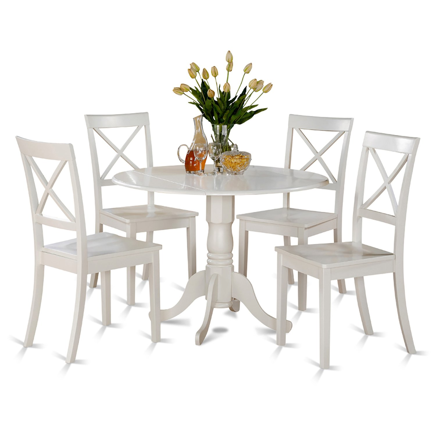Dining Set For 4: Small Round Table And Furniture Dining Set For 4 With