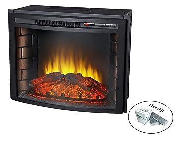 Phenomenal Amazon Com Eight24Hours 24 Curved Electric Fireplace Interior Design Ideas Skatsoteloinfo