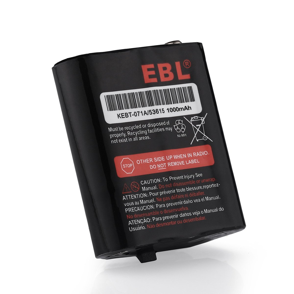 2 Pack EBL 3.6V 1000mAh Two-Way Radio Rechargeable Battery for Motorola 53615 m53615 KEBT-071-A KEBT-071-B KEBT-071-C KEBT-071-D Talkabout 5950 T4800 T4900 T5000 T5800 T9500R