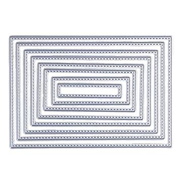 Demiawaking 8Pcs Metall Karte Form Stanzschablonen Metall Schneiden ...