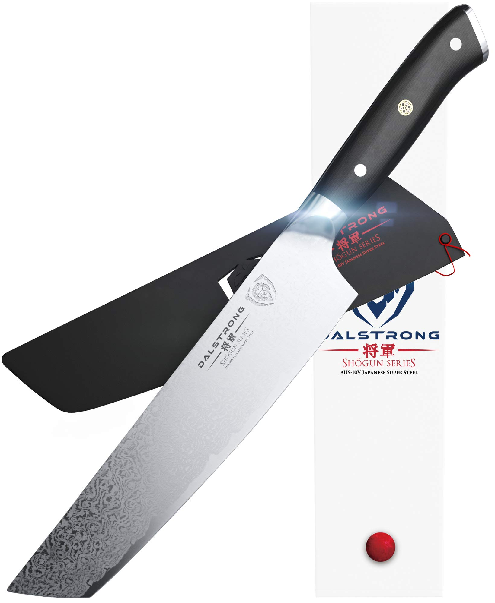 DALSTRONG'' The Tanto'' Chef Knife - Shogun Series - Japanese AUS-10V Super Steel - 8'' - w/Sheath by Dalstrong