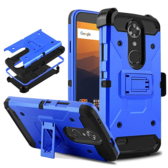 DONWELL Compatible with ZTE Max XL Resistant Shockproof Armor Cell Phone Case Cover with Kickstand Belt Clip Holster Compatible with ZTE Max ...