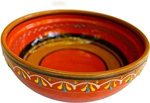 Cactus Canyon Ceramics Spanish Terracotta Deep Serving Dish, Orange