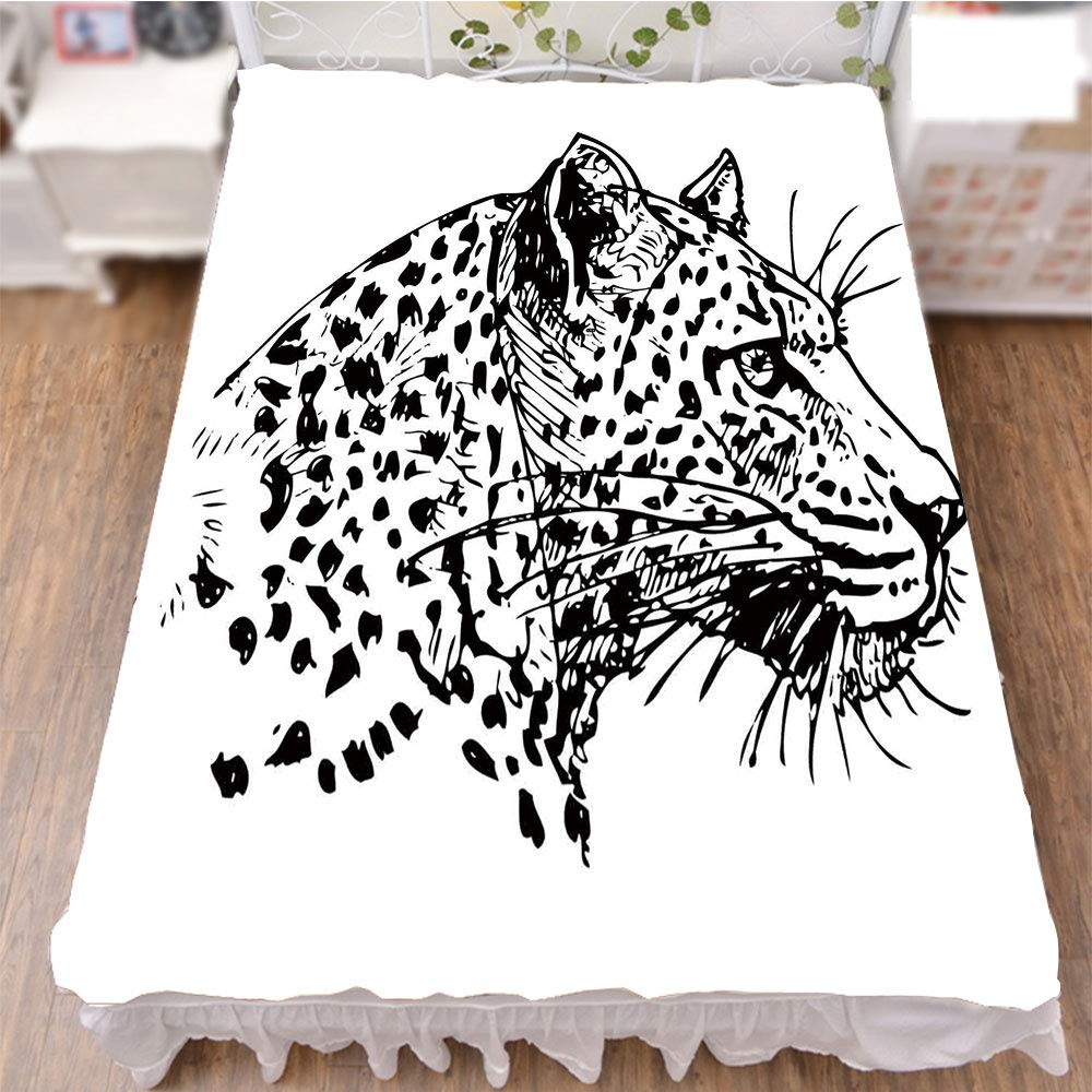 iPrint Bed Skirt Cover 3D Print,Wildlife Jungle Animal African Safari Theme,Best Modern Style Bed Skirt for Men and Women by 70.9''x94.5''
