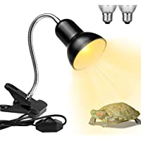 Lámparas de calor para reptiles, lámpara de tortuga, UVA/UVB para acuario, lámparas de calefacción con abrazadera…