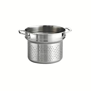 Tramontina 80116/042DS Gourmet 18/10 Stainless Steel Pasta Insert, NSF-Certified, Made in Brazil
