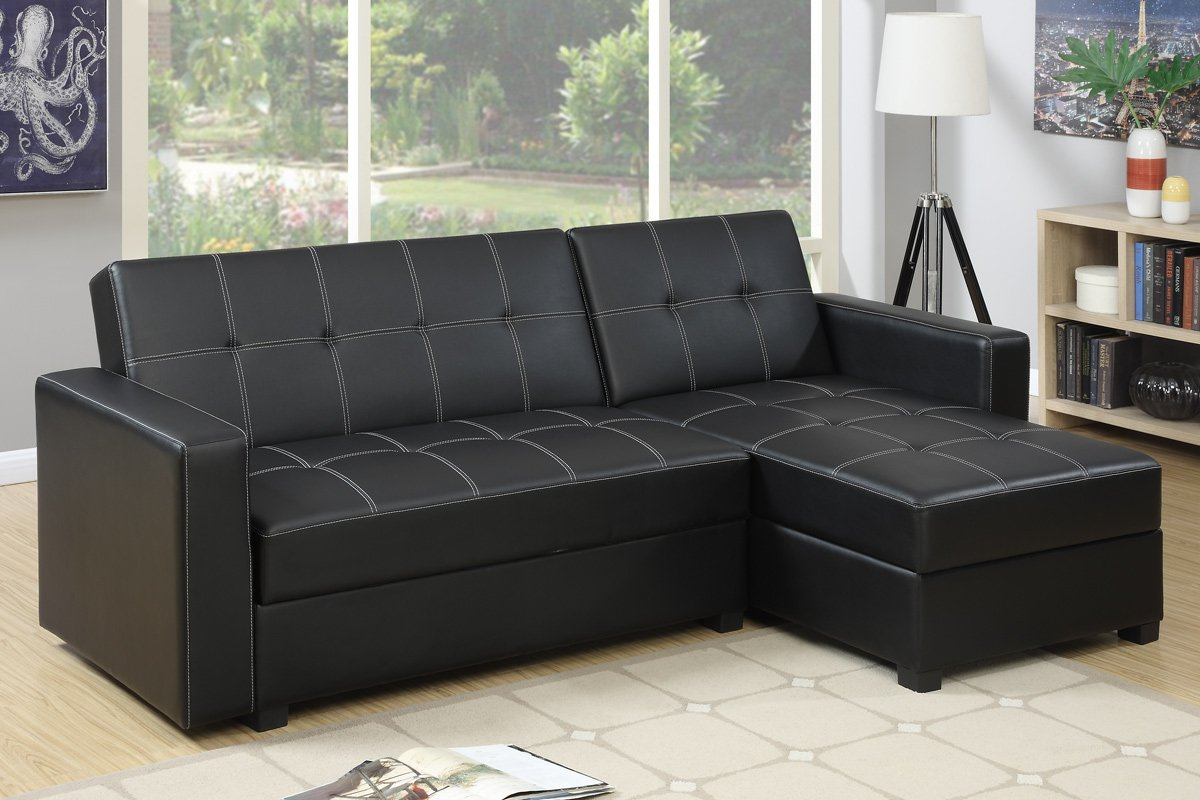 chaise wynn zuri sectional left black adjustable amazon com kitchen with furniture dining leather headrests sofa dp