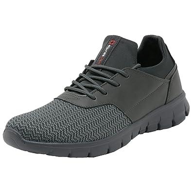 a6e26d37f3f7f Alpine Swiss Leo Men Sneakers Flex Knit Tennis Shoes Casual Athletic  Lightweight,Gray,13 D(M) US