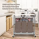 StorageManiac 3 Lift-off Bags Laundry Sorter with