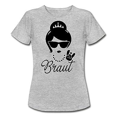 Spreadshirt Braut Junggesellinnenabschied Frauen T Shirt Amazonde
