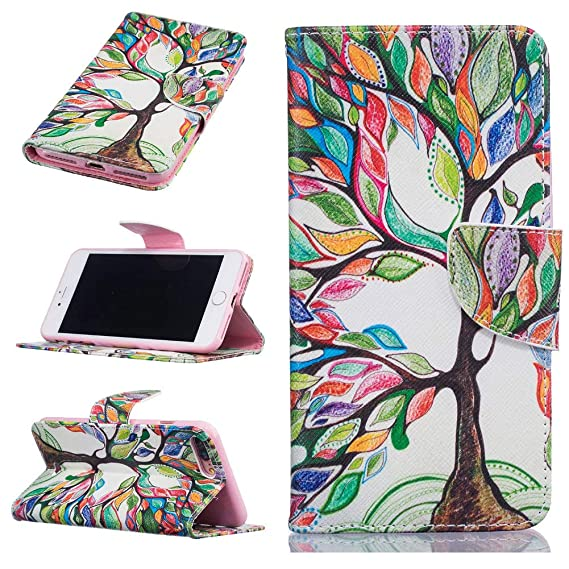 Amazon.com: Colorful Tree of Life PU Leather White Wallet ...