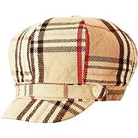 Super Soft Cashmere Feel Classic Plaid newsboy cabbie apple Cap Hat 268c8dae2c15