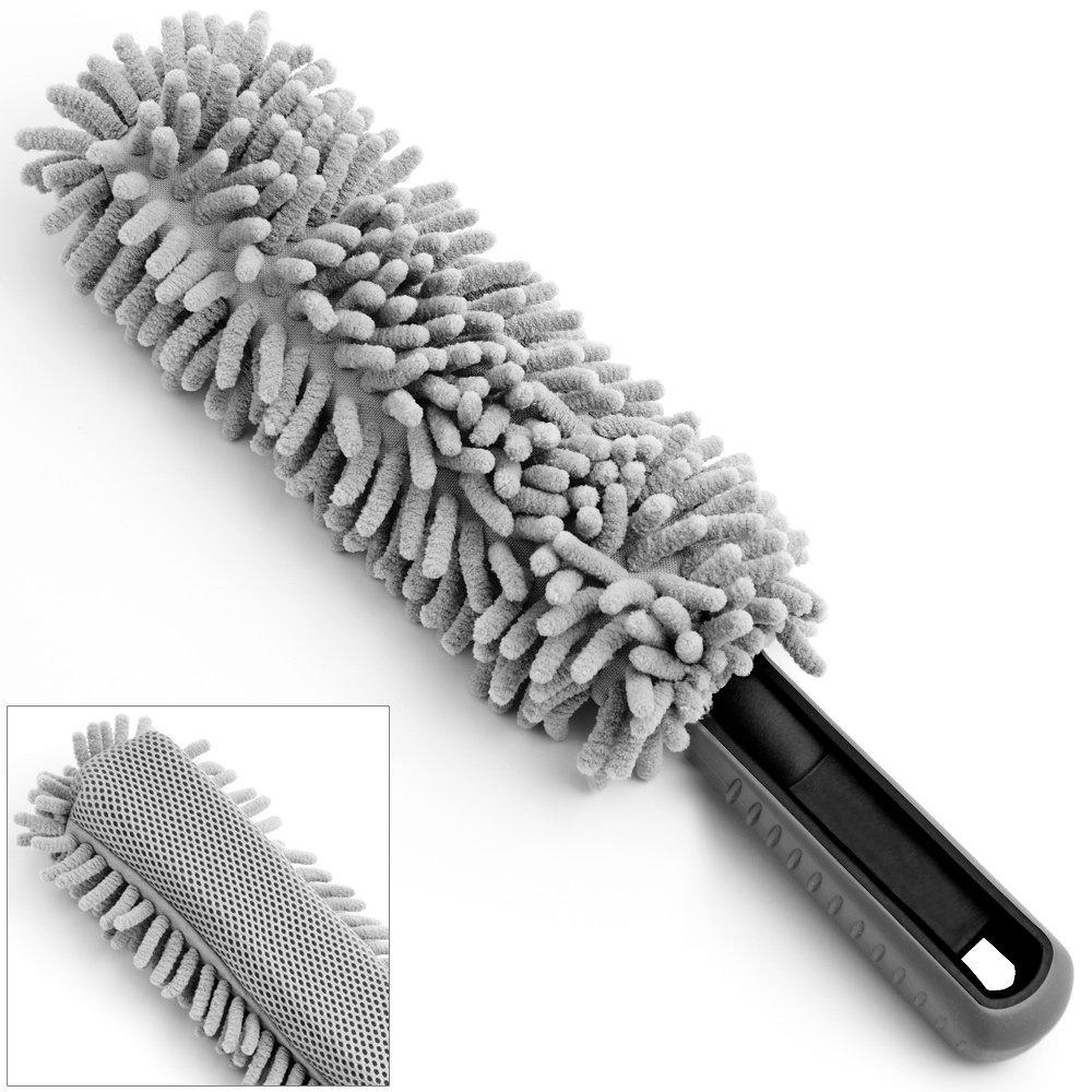 Brosse de nettoyage flexible pour tous types de jantes gris 34x5, 5cm saleté 5cm saleté Monzana