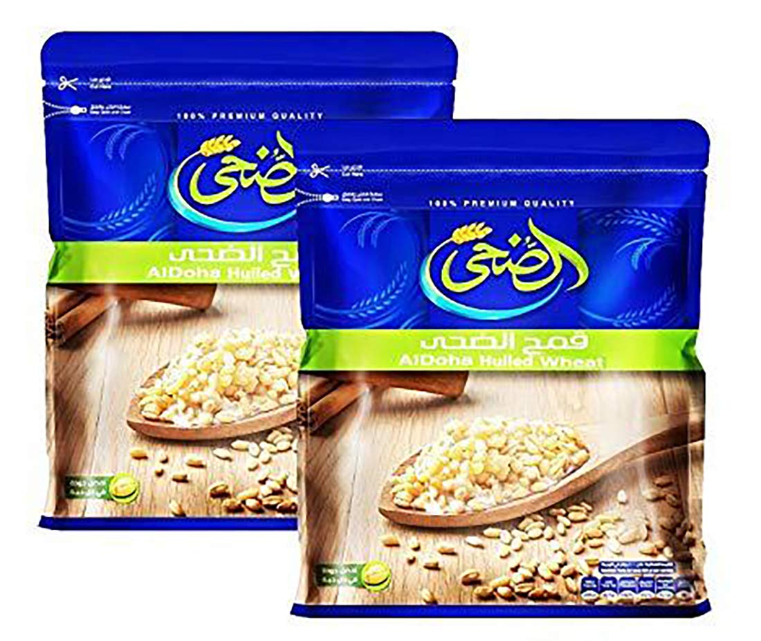Egyptian Al Doha Dry Hulled Wheat Belila Fresh Natural Grains for Cooking بليلة (2 Packs / 1000 gm)