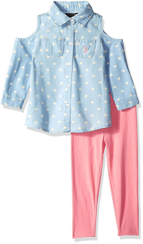 U.S Girls Fashion Top and Pant Set Polo Assn