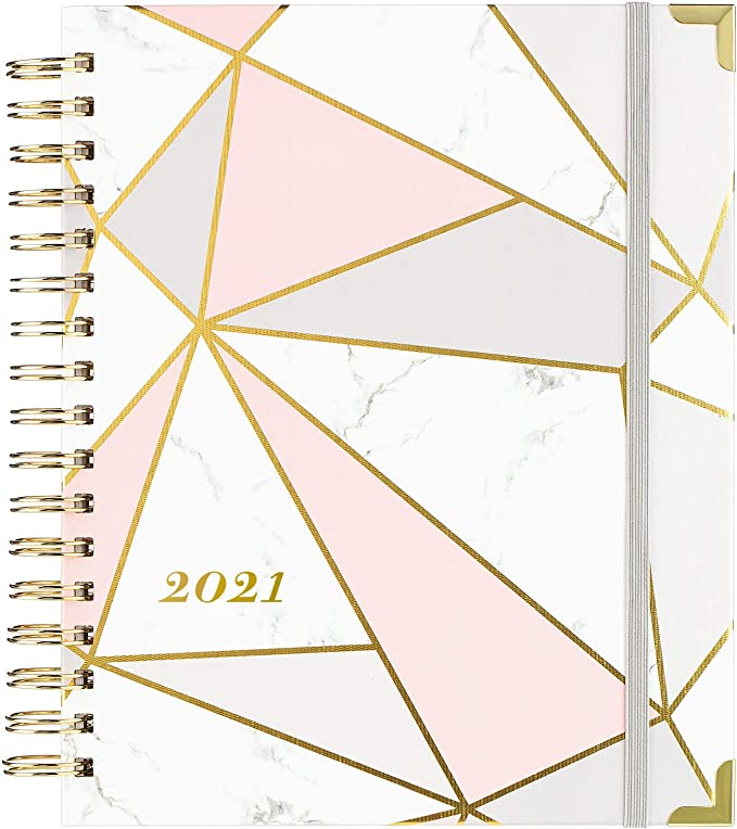 """Academic Weekly/&Monthly Planner with Premium Thick 8/"""" x 10/"""" 2020-2021 Planner"""
