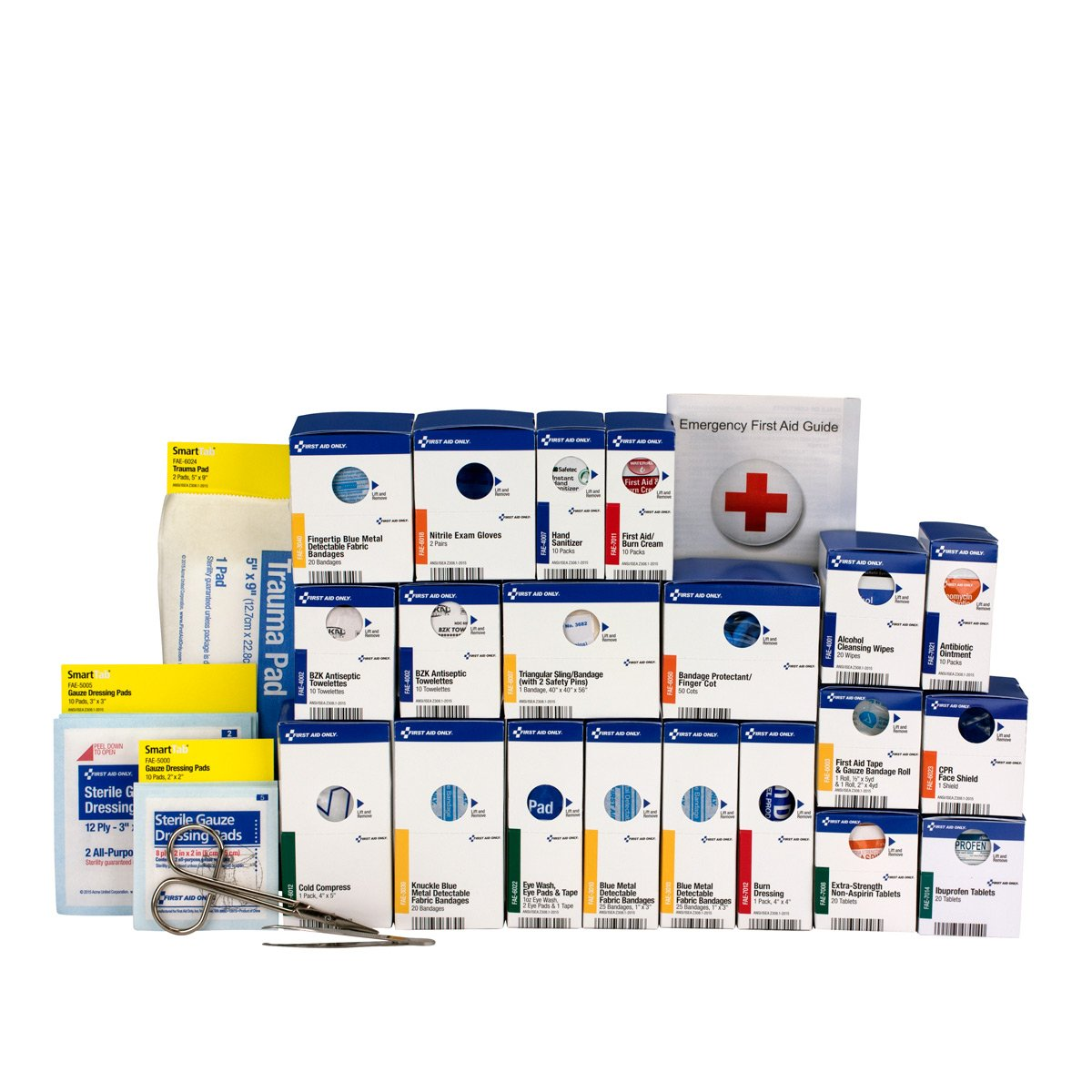 First Aid Only 90693 Large SmartCompliance Food Service First Aid Kit Refill Pack, ANSI A+ with Meds