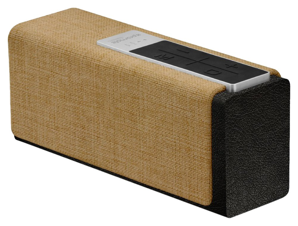Promate Bluetooth/Wi-Fi ワイヤレス スマート スピーカー Lサイズ 15W microSDスロット/3.5mm オーディオジャック/インターネットラジオ機能付き ブラック/ベージュ StreamBox-L BLACK/BEIGE   B074WSMG42